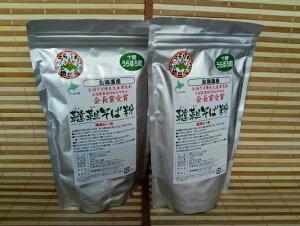 【ふるさと納税】北海道産韃靼そば粉「満天きらり」 500g×2袋