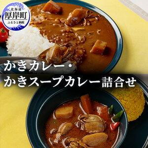【ふるさと納税】かきカレー・かきスープカレー詰合せ 【加工品・レトルト・牡蠣】