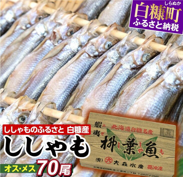 【ふるさと納税】しらぬか産ししゃも【オスメス70尾】 今なら「鮭とばイチロー100g」プレゼント