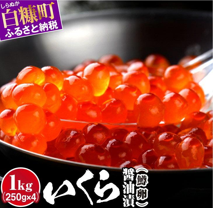 【ふるさと納税】いくら醤油漬(鱒卵)【1kg(250g×2×2)】