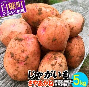 【ふるさと納税】じゃがいも(さやあかね)無農薬・無肥料・自然栽培・北海道産【5kg】