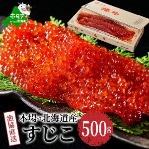 【ふるさと納税】漁協直送 すじこ 500g 味わい 深い 本場の 北海道産 筋子 国産