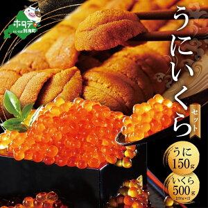 【ふるさと納税】 北海道 うに・いくらセット (バフンウニ150g、いくら500g) 雲丹 イクラ ウニ