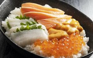 【ふるさと納税】知床らうす 海鮮丼セット