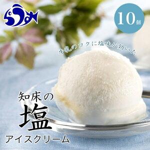 【ふるさと納税】知床の塩アイスクリーム 10個 F21M-450