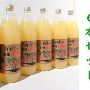 【ふるさと納税】青森県産完熟100%アップルジュース1L×6本 【果物類・林檎・飲料類・果汁飲料・ジュース】