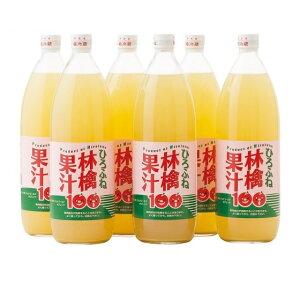 【ふるさと納税】ひろふね林檎果汁100%(ブレンド1L×6本入り) 【果物類・林檎・りんご・リンゴ・飲料類・果汁飲料・りんご・ジュース】