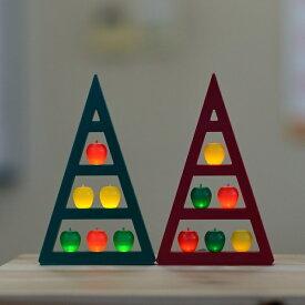 【ふるさと納税】アップルツリー(緑)1個【LEDライト】 【インテリア】