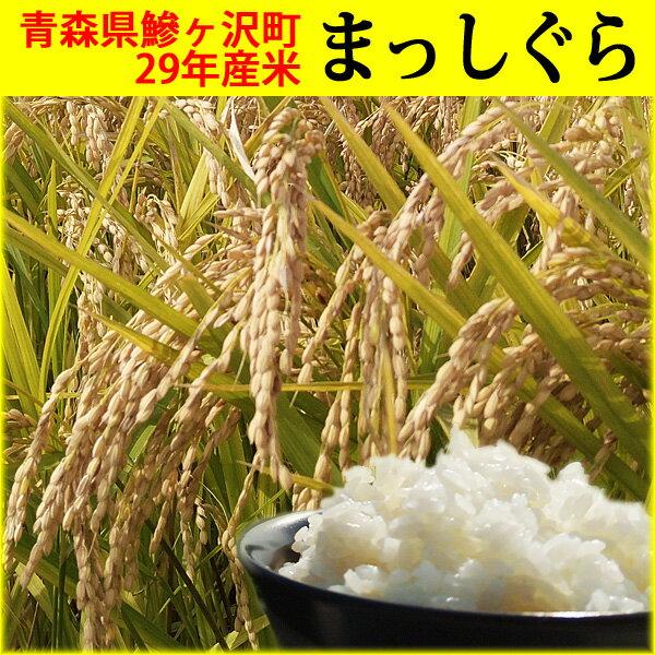 【ふるさと納税】青森県鰺ヶ沢町 29年産米 まっしぐら〔白米〕(5kg)