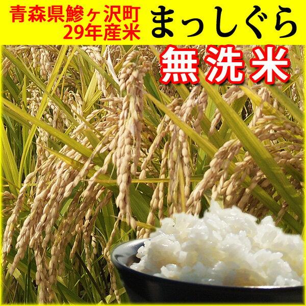 【ふるさと納税】青森県鰺ヶ沢町 29年産米 まっしぐら〔無洗米〕(5kg)