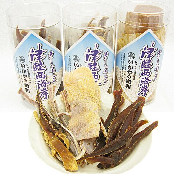 【ふるさと納税】青森県鰺ヶ沢町 乾物セット〔焼きスルメ、のしいか、鮭とば〕