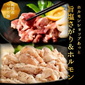【ふるさと納税】津軽豚の高級塩サガリ&塩ホルモンセット (900g)保存料・化学調味料無添加【1137990】