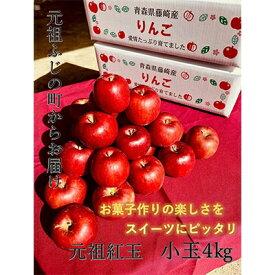 【ふるさと納税】青森県産りんご 紅玉 家庭用小玉 約4kg【1144118】