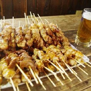 【ふるさと納税】あべどり 焼きとり74本(もも串+バラエティーセット) 【モモ・お肉・鶏肉焼き鳥】