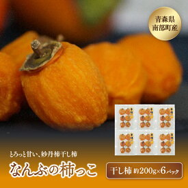 【ふるさと納税】《先行予約》なんぶの柿っこ(干し柿)200g×6P F21U-011