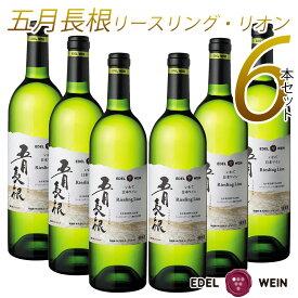 【ふるさと納税】エーデルワイン 五月長根 リースリング・リオン やや辛口 白ワイン 6本セット