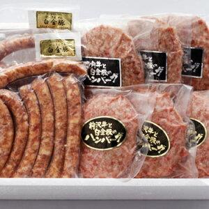 【ふるさと納税】白金豚セット/ハンバーグ2種、ソーセージ2種