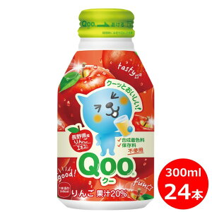 【ふるさと納税】Qooりんご300mlボトル缶 24本セット