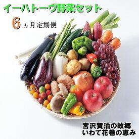 【ふるさと納税】《定期便6ヶ月》イーハトーヴ野菜セット お楽しみ 詰め合わせ 6回(7〜10品) 旬 野菜 冷蔵