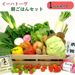 【ふるさと納税】お米「ひとめぼれ」1kg付イーハトーヴ朝ごはん野菜セット