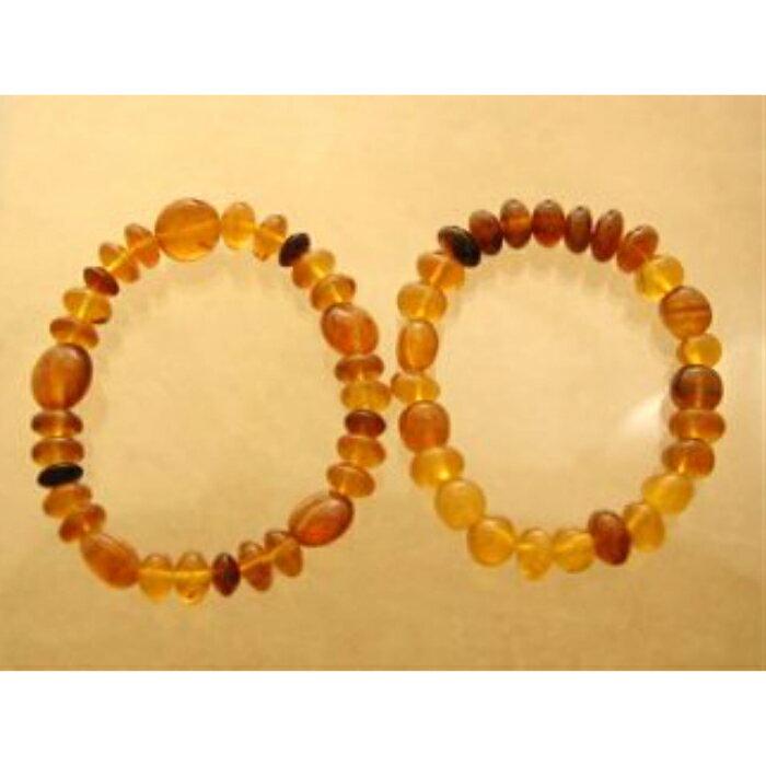 【ふるさと納税】W001 久慈産原石削出天然琥珀「ブレスレット」