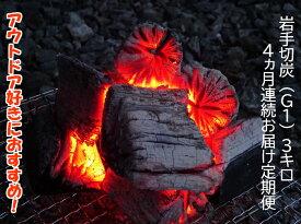 【ふるさと納税】【定期便】アウトドア・BBQ大好き!4ヵ月連続でこだわり木炭をお届け定期便
