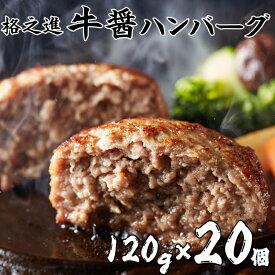 【ふるさと納税】ハンバーグ 無添加 格之進 牛醤ハンバーグ2.4kg(120g×20個) セット 冷凍 国産牛 白金豚 楽天限定