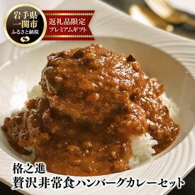 【ふるさと納税】ハンバーグ カレー 格之進 贅沢 非常食 セット (各3個6個入り)