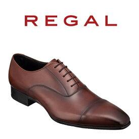 【ふるさと納税】REGAL紳士靴ブラウン10LR ストレートチップ 数量限定 奥州市産モデル[AM04]