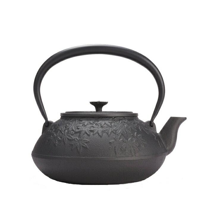 【ふるさと納税】南部鉄器 鉄瓶 お茶々もみじ 1.2L IH対応[Z007]