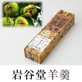 【ふるさと納税】岩谷堂羊羹 特型2本入(粒栗・黒煉) 伝統和菓子[F006]