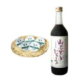 【ふるさと納税】山ぶどうジュース&レアチーズケーキセット【1228956】
