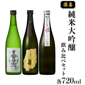 【ふるさと納税】日本酒 飲み比べセット ギフト 純米大吟醸 0713【廣喜】純米大吟醸飲み比べセット