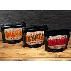 【ふるさと納税】BARATZガーリックペッパー・チーズ・旨辛ごま油 各4個セット 【お菓子・スナック】