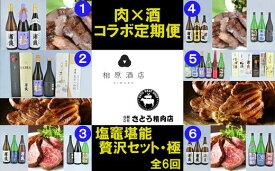 【ふるさと納税】肉・酒コラボ定期便「塩竈堪能贅沢セット・極」 【04203-0422】