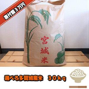 【ふるさと納税】選べる多賀城産米 30kg