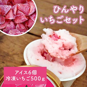 【ふるさと納税】《東松島のいちご園》アイスクリームとシャーベット各3個・冷凍いちご500g