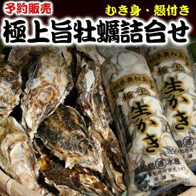 【ふるさと納税】】<予約>奥松島産極上旨牡蠣詰合せ(むき身500g・殻付き8個)