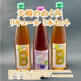 【ふるさと納税】大崎のめぐみリキュール3本セット