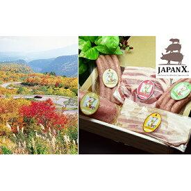 【ふるさと納税】JAPAN X ハム・ベーコン&ウィンナーセット/計1.2kg 【お肉・豚肉】