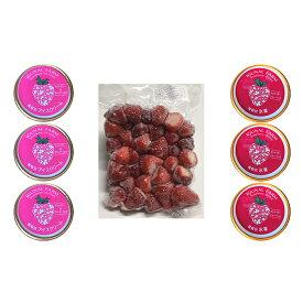 【ふるさと納税】いちごアイスクリーム・いちごシャーベット(各3個)・冷凍いちご(500g×1袋)セット 【果物類・いちご・苺・イチゴ・お菓子・アイス・シャーベット】