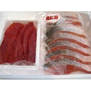 【ふるさと納税】塩筋子500g・紅鮭2袋セット【1113609】