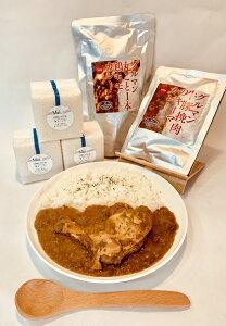 【ふるさと納税】 チキンカレー キーマカレー お米の真空キューブ 「Mai.」 A