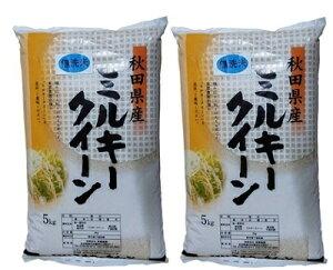 【ふるさと納税】〔B46〕秋田県能代市産「ミルキークイーン」無洗米10kg