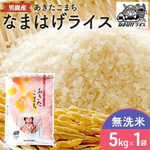 【ふるさと納税】【あきたこまち】なまはげライス無洗米5kg 【精米・お米・あきたこまち】