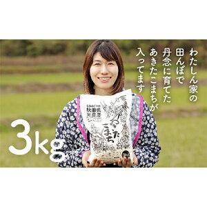 【ふるさと納税】なまはげの郷秋田県男鹿産あきたこまち 3kg【男鹿なび】 【お米・あきたこまち・米】