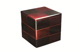 【ふるさと納税】E5501 川連漆器 銀間市松6.5寸3段重