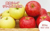 【ふるさと納税】りんご旬のりんごサンふじ&王林18玉〜20玉約5kg【平塚果樹園】