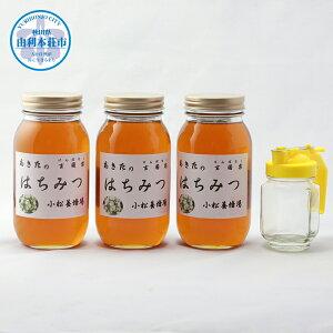 【ふるさと納税】(予約受付中 発送は令和3年8月から!)D32210秋田の玄圃梨蜂蜜1kg×3本+ピッチャー付 はちみつ 国産