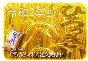 【ふるさと納税】(令和2年産米)H14369 ひろっきい米【特別栽培あきたこまち10kg】(玄米)あきたこまち 秋田県産